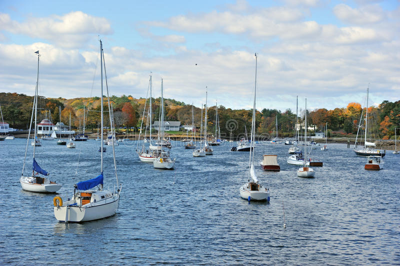 Manchester by the Sea. Harbor in Manchester-by-the-Sea, a town on Cape Ann, in Essex County, Massachusetts, in the United States royalty free stock photo