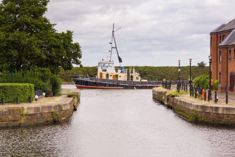 Manchester Ship Canal arkivbild