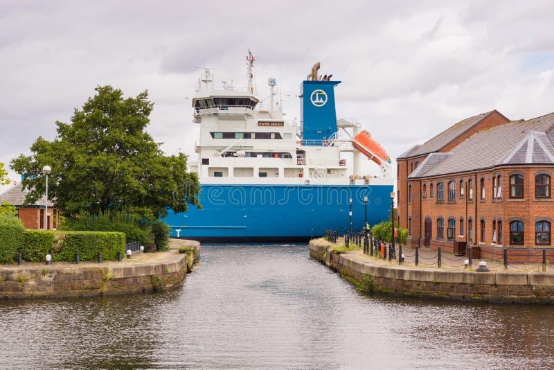 Manchester Ship Canal arkivfoton