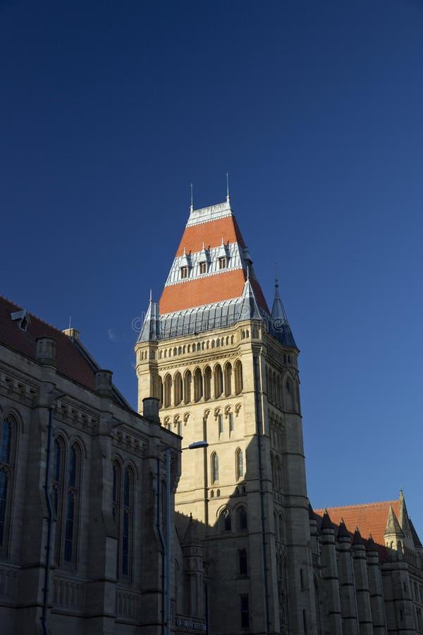 Manchester st?rre Manchester, UK, Oktober 2013, Whitworth byggnad, universitet av Manchester royaltyfri fotografi