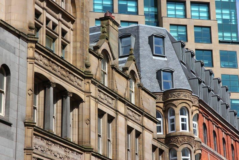 Manchester UK. City architecture of Manchester, United Kingdom stock image