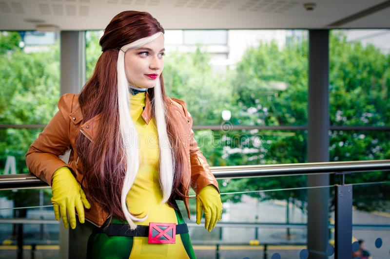 Rogue from X Men Cosplayer stock image