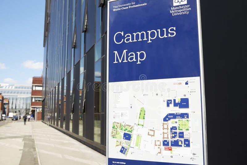Manchester, UK - 4 May 2017: Manchester Metropolitan University Campus Buildings stock image