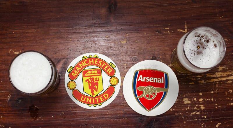 Manchester United contre arsenal photo libre de droits