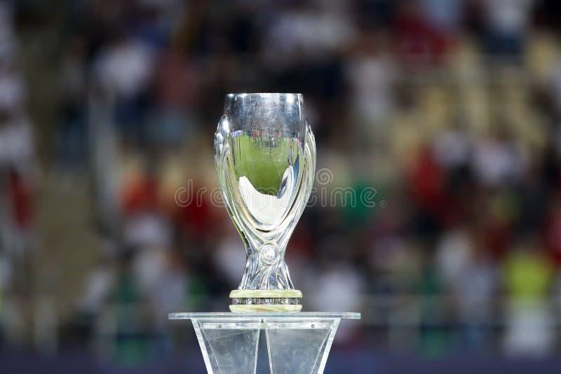 MANCHESTER UNITED DI REAL MADRID V: TAZZA ECCELLENTE DELL'UEFA immagini stock libere da diritti