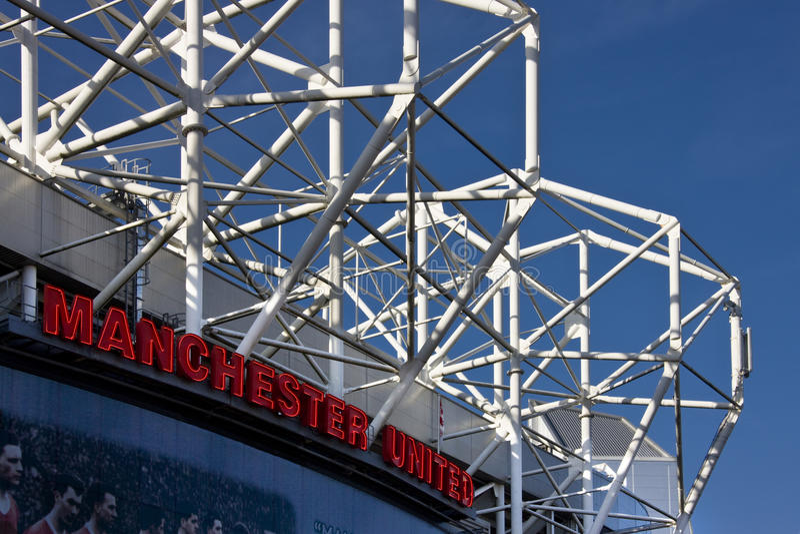 Manchester United Football Stadium stock photo
