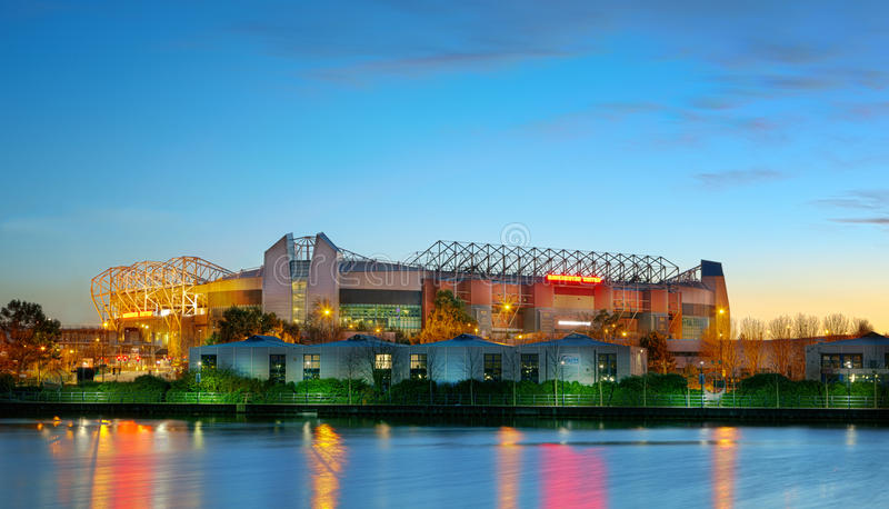 Manchester United Football Stadium England UK royalty free stock photo