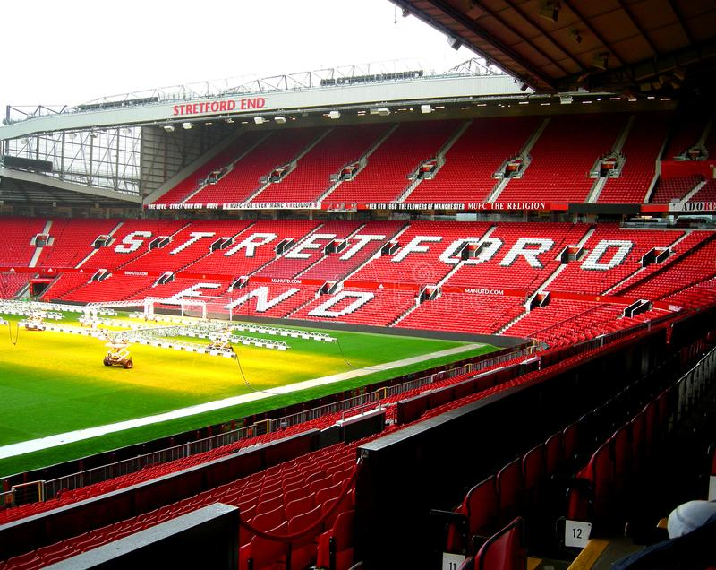 Manchester United football stadium stock photography