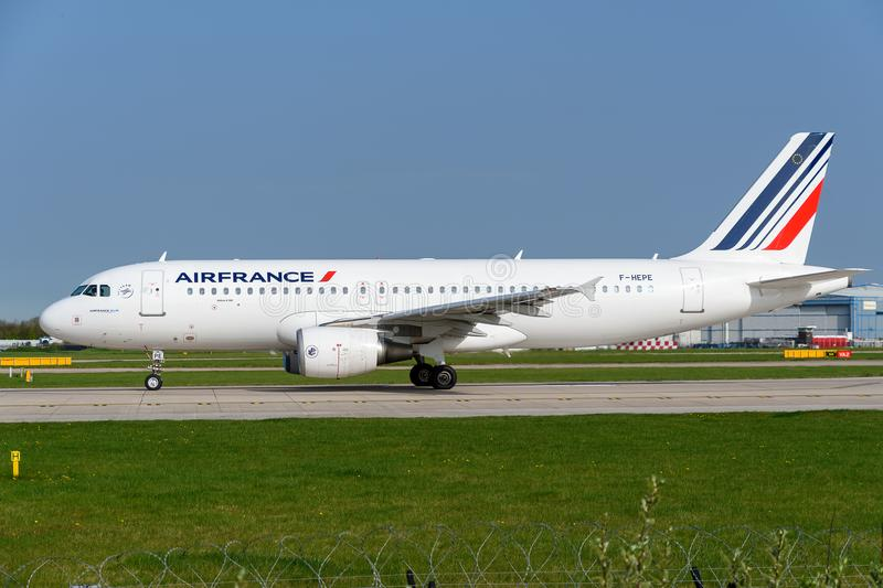 Air France Airbus A320 Tail Editorial Photography - Image of