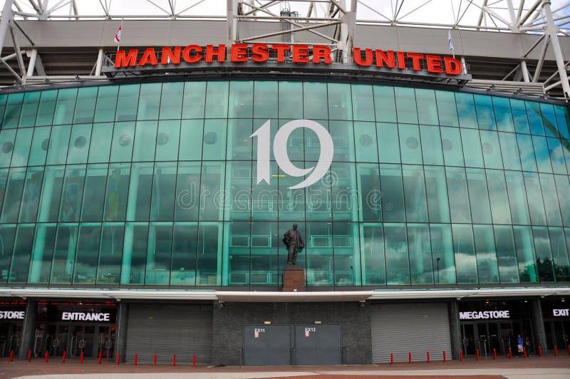 Manchester United mega sklepu przód zdjęcia stock