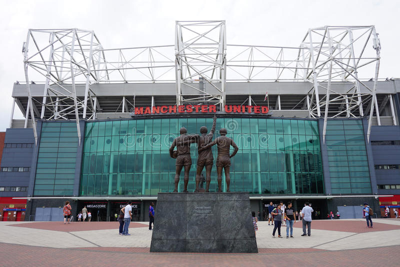 The Manchester United Old Trafford Stadium. MANCHESTER, ENGLAND -The Old Trafford Stadium is home to the Manchester United football club. It was nicknamed the stock images