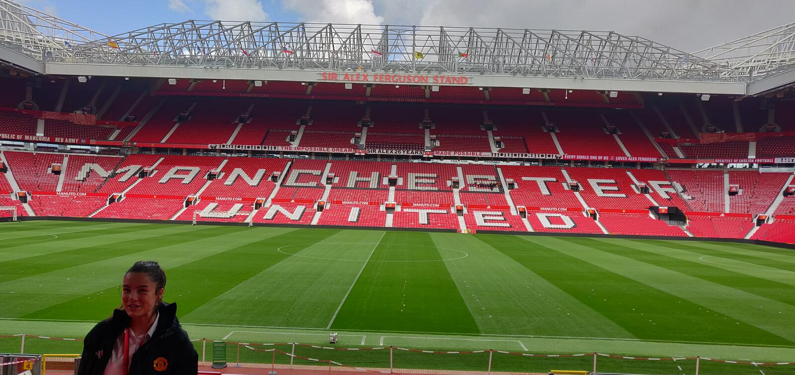 Manchester United Stadium of old tafford is greatest stadium of united kingdom stock images
