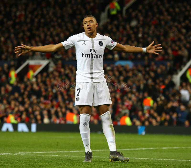 Manchester United v Paris Saint Germain - uefa champions league 16 Round: Pierwszy noga obrazy stock