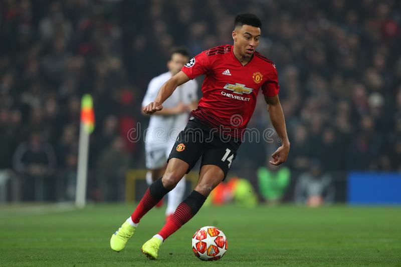 Manchester United v Paris Saint Germain - UEFA Champions Leagueronde van 16: Eerste Been stock foto's