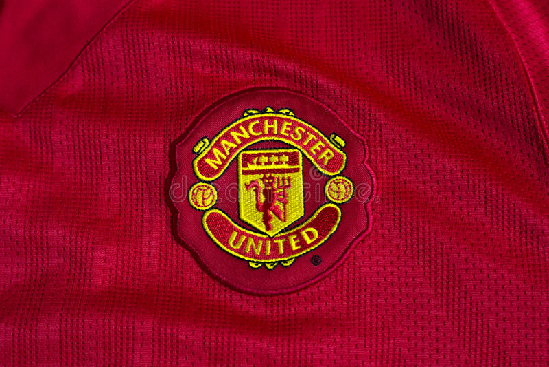 Manchester Unitedemblem royaltyfri fotografi