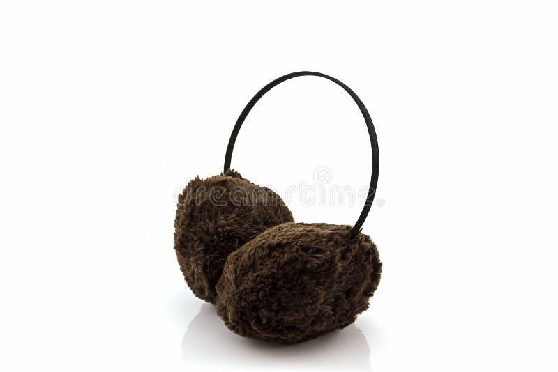 Manchon brouillé d'oreille d'hiver de Brown photo libre de droits