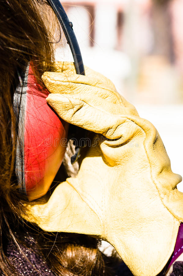 Manchon d'oreille image libre de droits