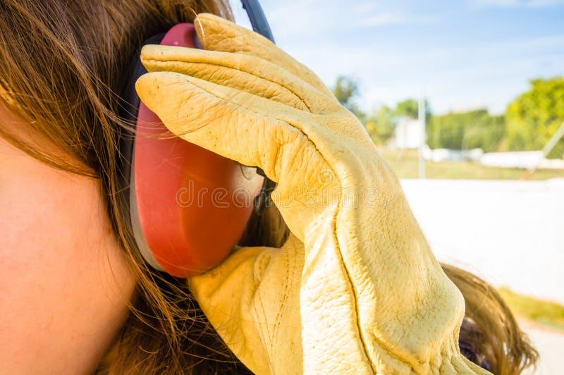 Manchon d'oreille photographie stock libre de droits