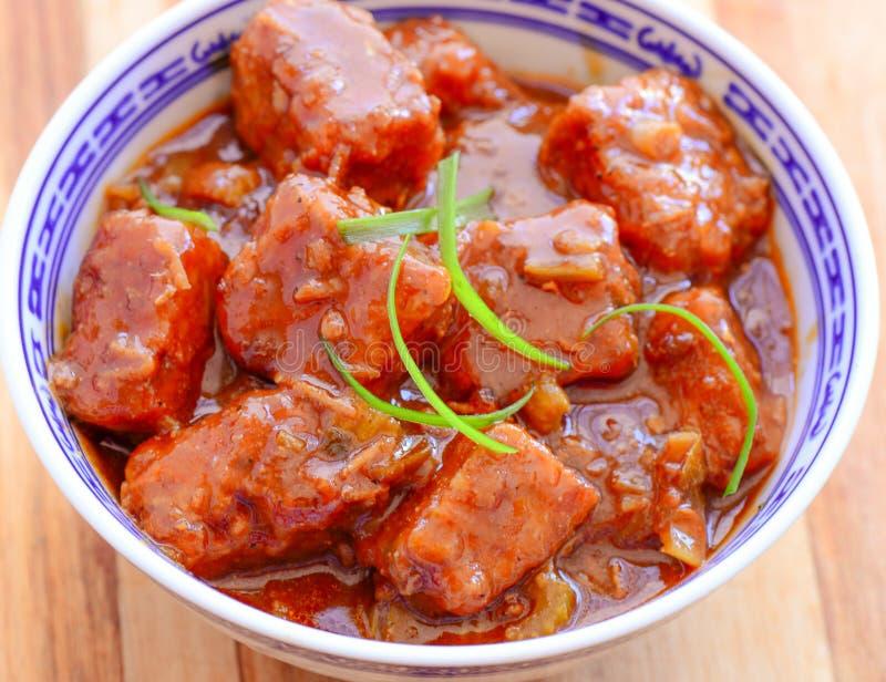 Manchurian del pollo fotografie stock