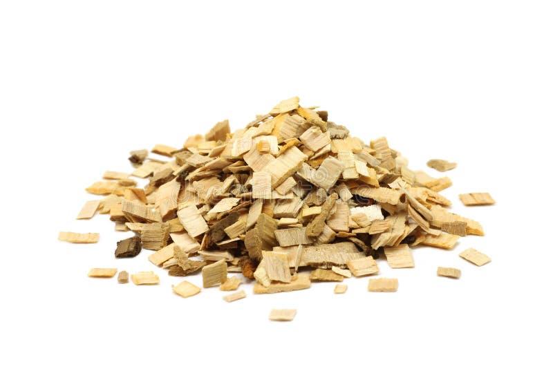 Manciata di chip di legno per fumare fotografie stock