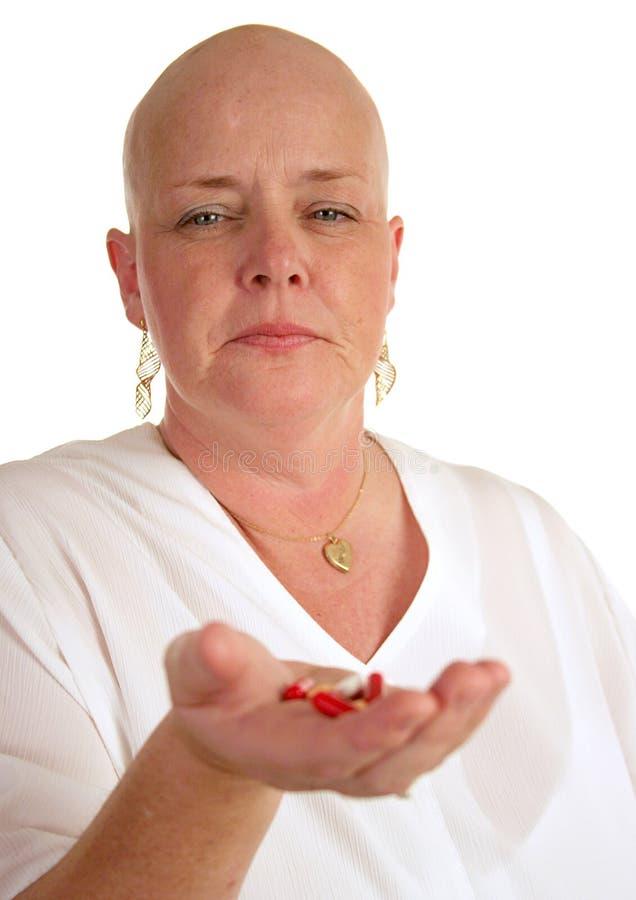 Manciata di pillole immagini stock