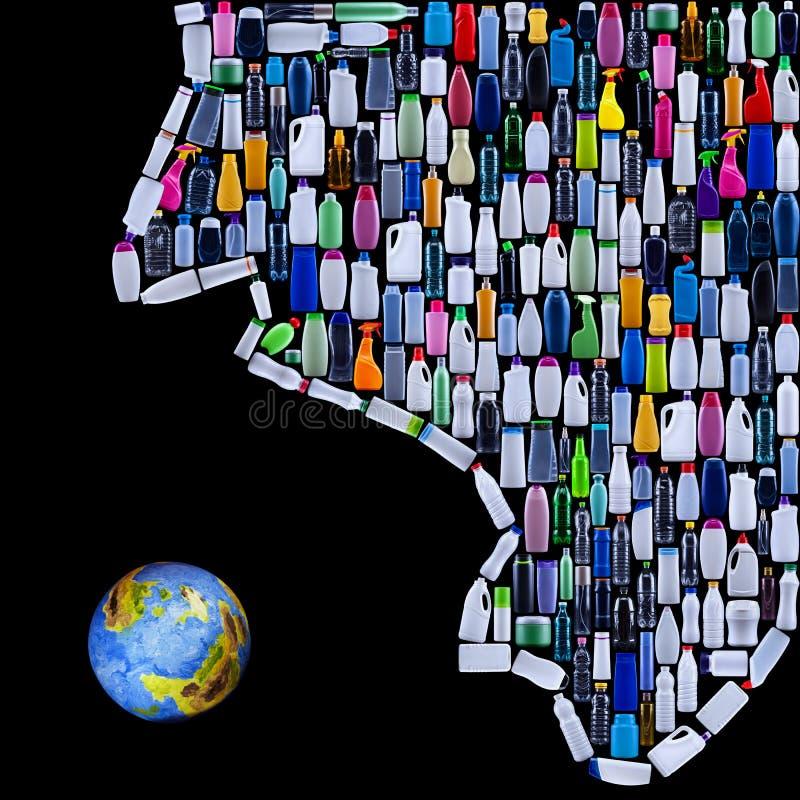 Mancivilisation som hotar jord stock illustrationer