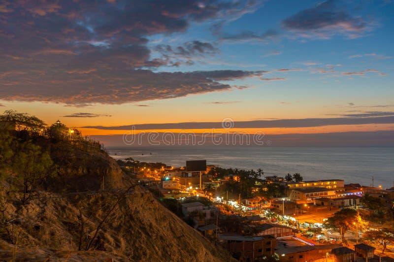 Mancora Περού κατά τη διάρκεια του ηλιοβασιλέματος στοκ εικόνες με δικαίωμα ελεύθερης χρήσης