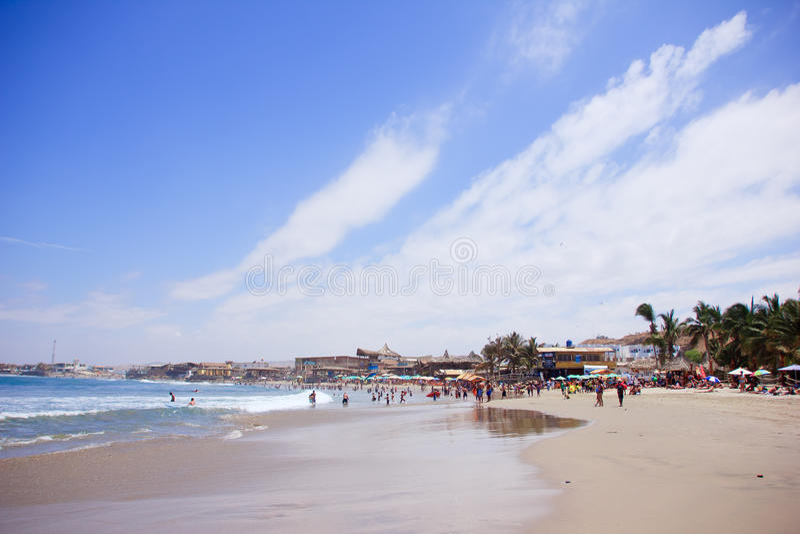 Mancora strand, Peru royaltyfri fotografi