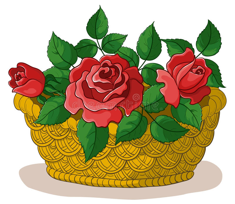 Mand met bloemenrozen vector illustratie