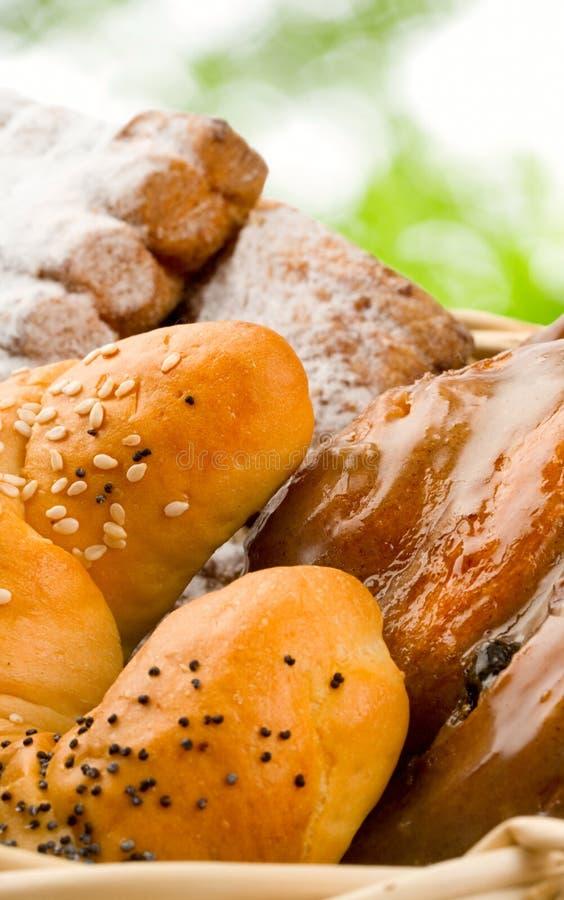 Mand van broodjes royalty-vrije stock foto's