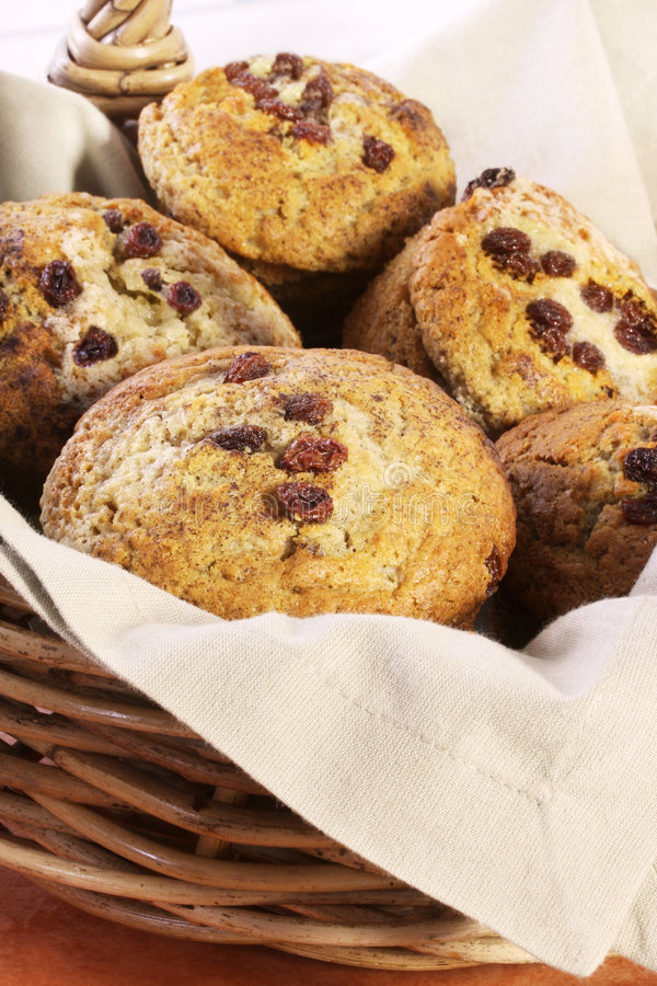 Mand van Muffins royalty-vrije stock afbeeldingen