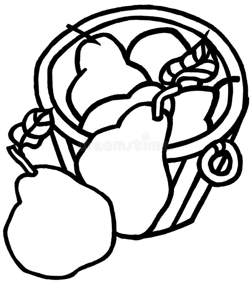 Mand van peren stock illustratie