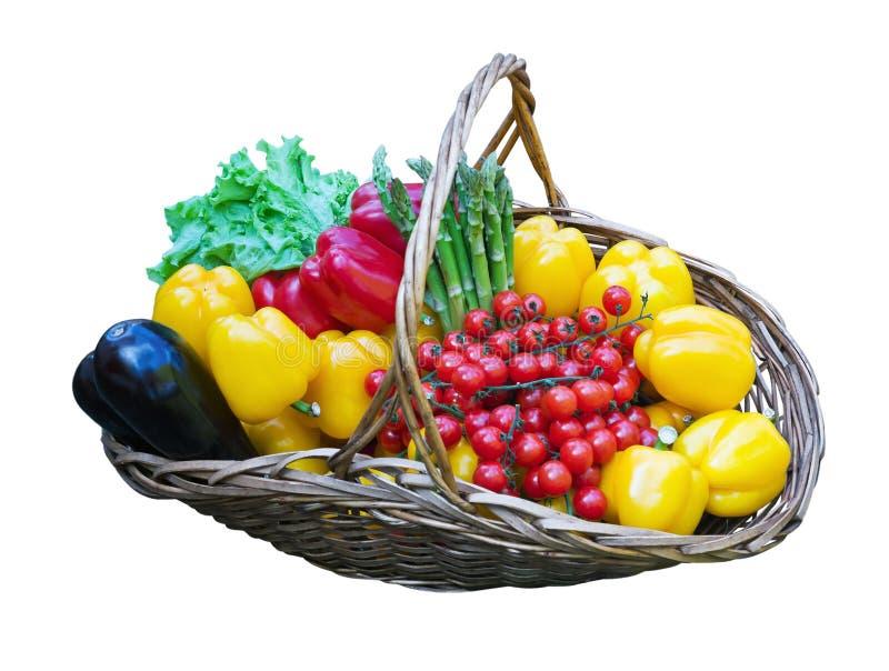 Mand van verse groenten royalty-vrije stock fotografie