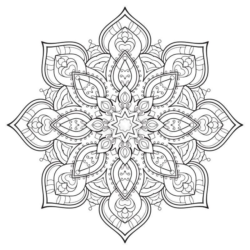Mandalaöversikt royaltyfri illustrationer
