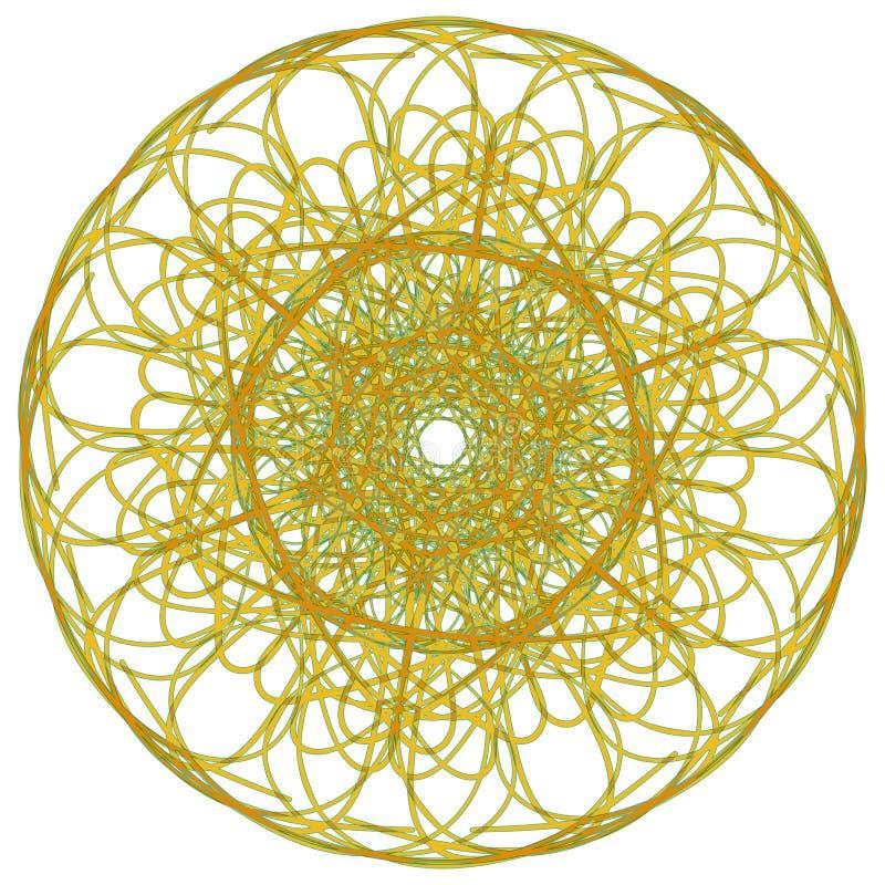Mandala árabe del color ilustración del vector
