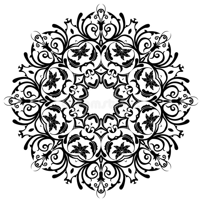 mandala Éléments décoratifs floraux photos libres de droits