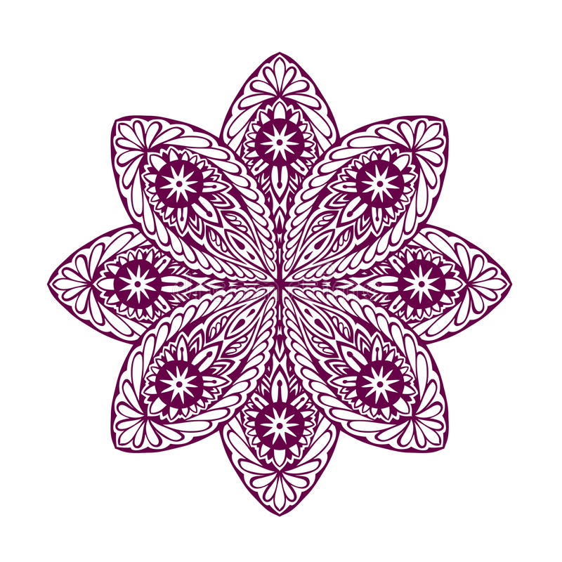 Mandala étnica hermosa del ornamento Elemento geométrico del círculo Ilustración del vector libre illustration