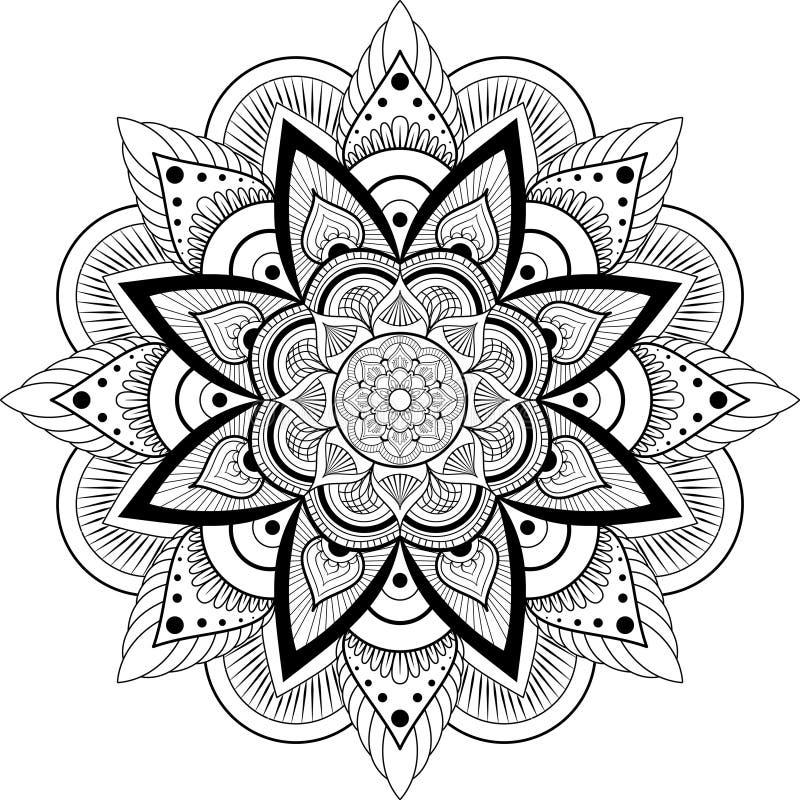 mandala διακοσμητικός τρύγος στ&o ελεύθερη απεικόνιση δικαιώματος