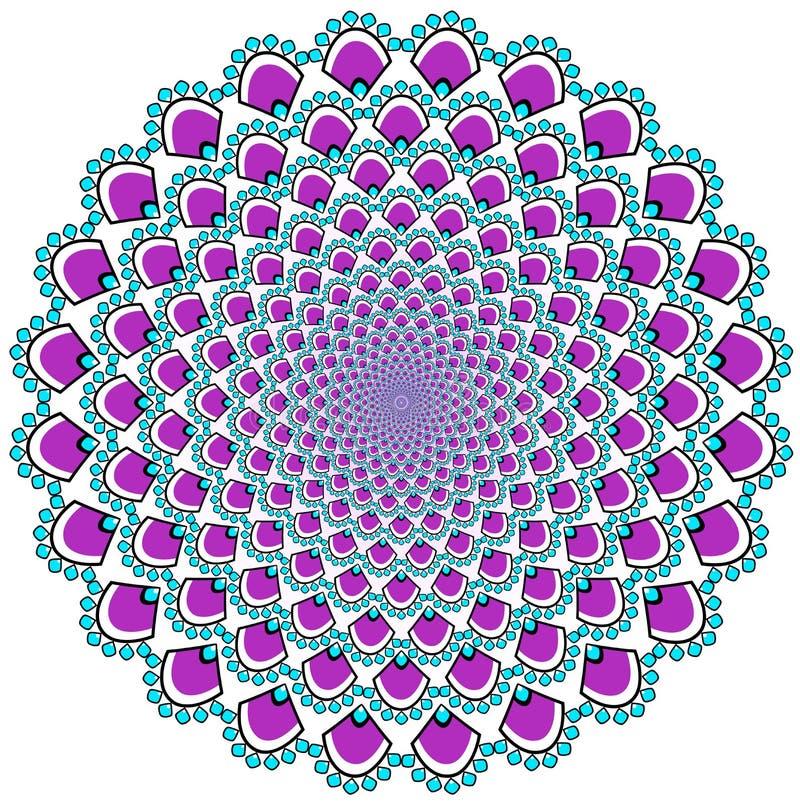 mandala διακοσμητικός τρύγος στ&o Ασιατικό σχέδιο, διανυσματική απεικόνιση απεικόνιση αποθεμάτων