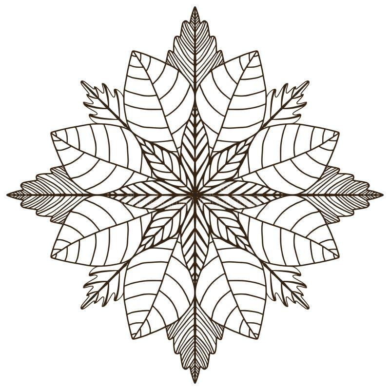 mandala διακοσμητικό Σχέδιο τέχνης δερματοστιξιών  Διάνυσμα για την ενήλικη χρωματίζοντας σελίδα Εσωτερική τυπωμένη ύλη mandala διανυσματική απεικόνιση