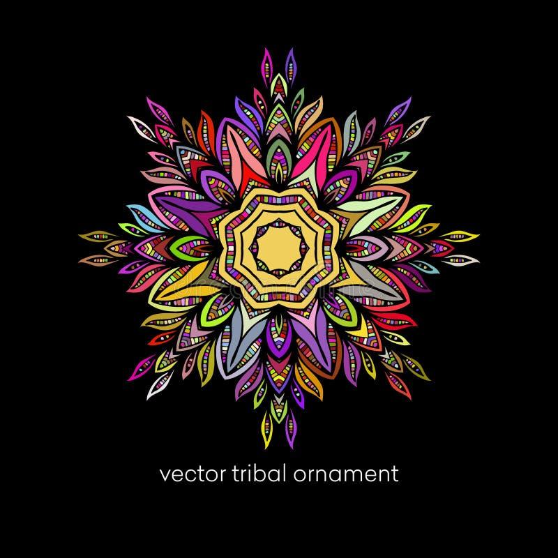 mandala Εθνικά διακοσμητικά στοιχεία διάνυσμα απεικόνιση αποθεμάτων