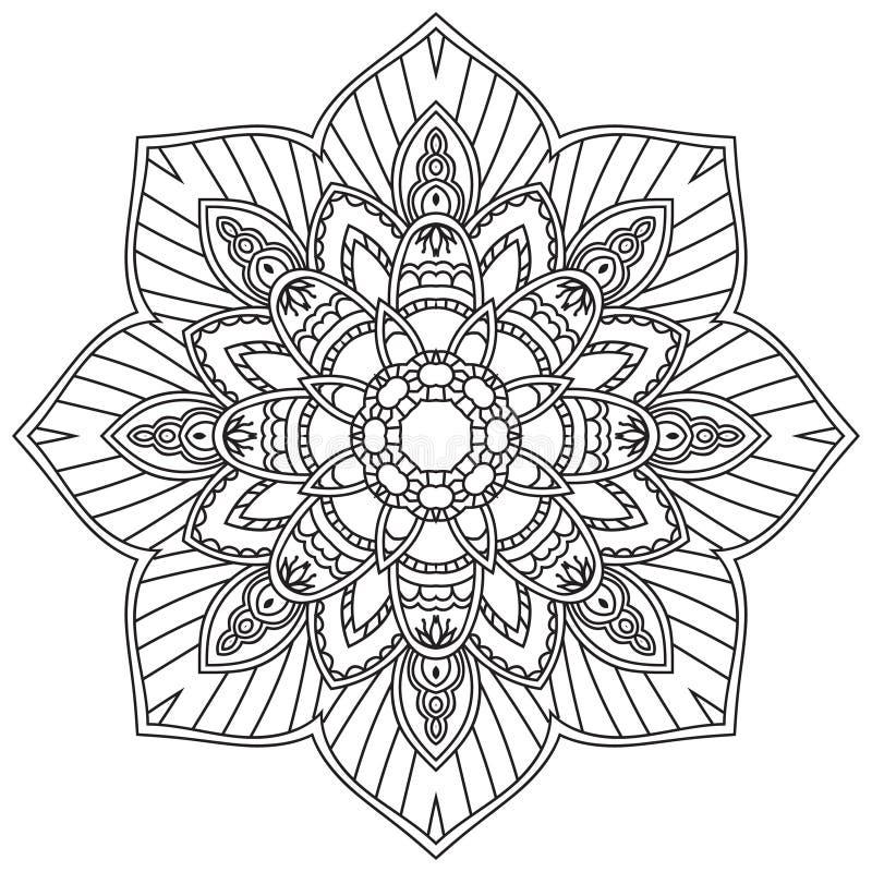 mandala Εθνικά διακοσμητικά στοιχεία συρμένο ανασκόπηση χέρι απεικόνιση αποθεμάτων