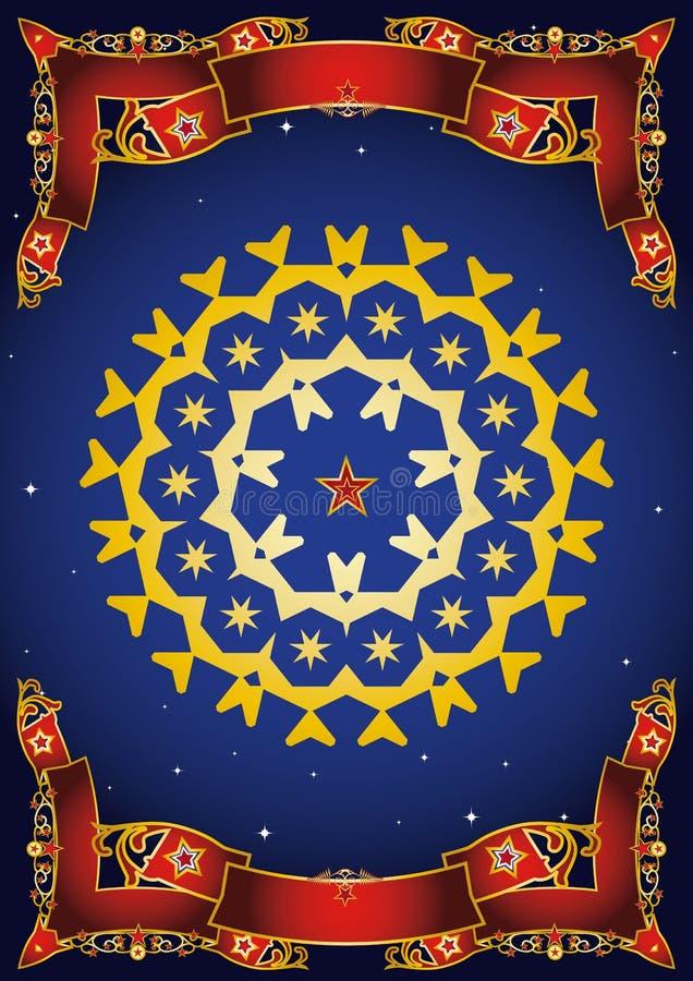 Mandala νύχτας τσίρκων στοκ φωτογραφίες