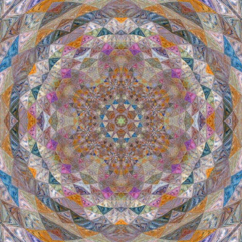 Mandala προσθηκών μωσαϊκών ικτίνων διανυσματική απεικόνιση