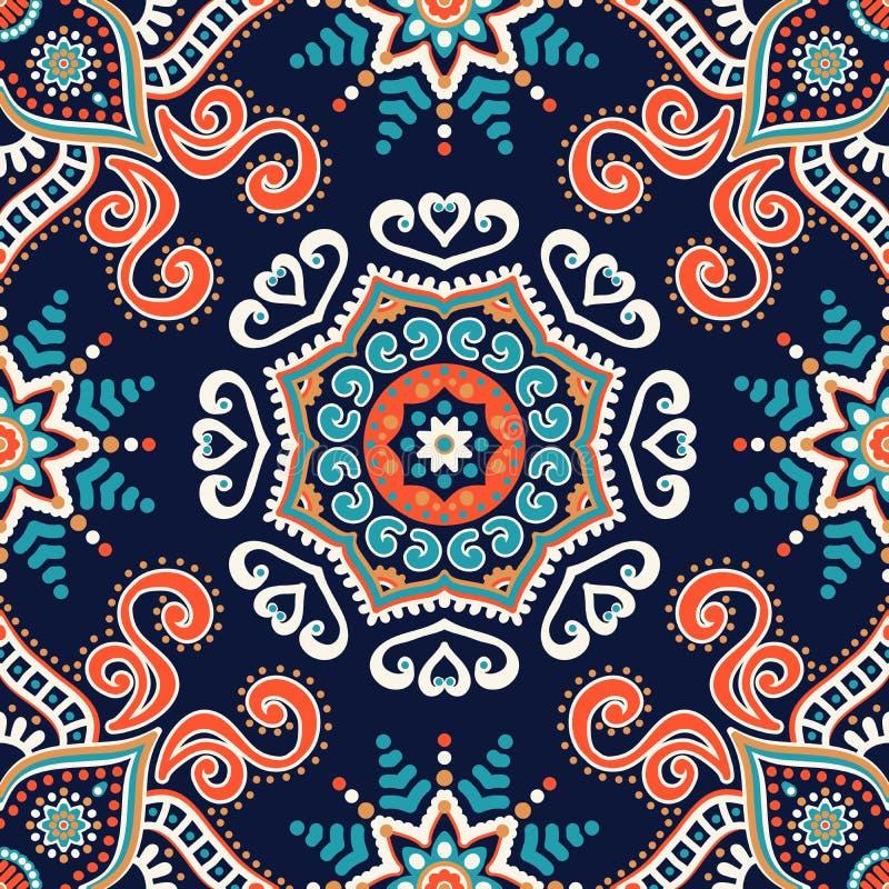 mandala Στρογγυλό σχέδιο διακοσμήσεων διανυσματική απεικόνιση