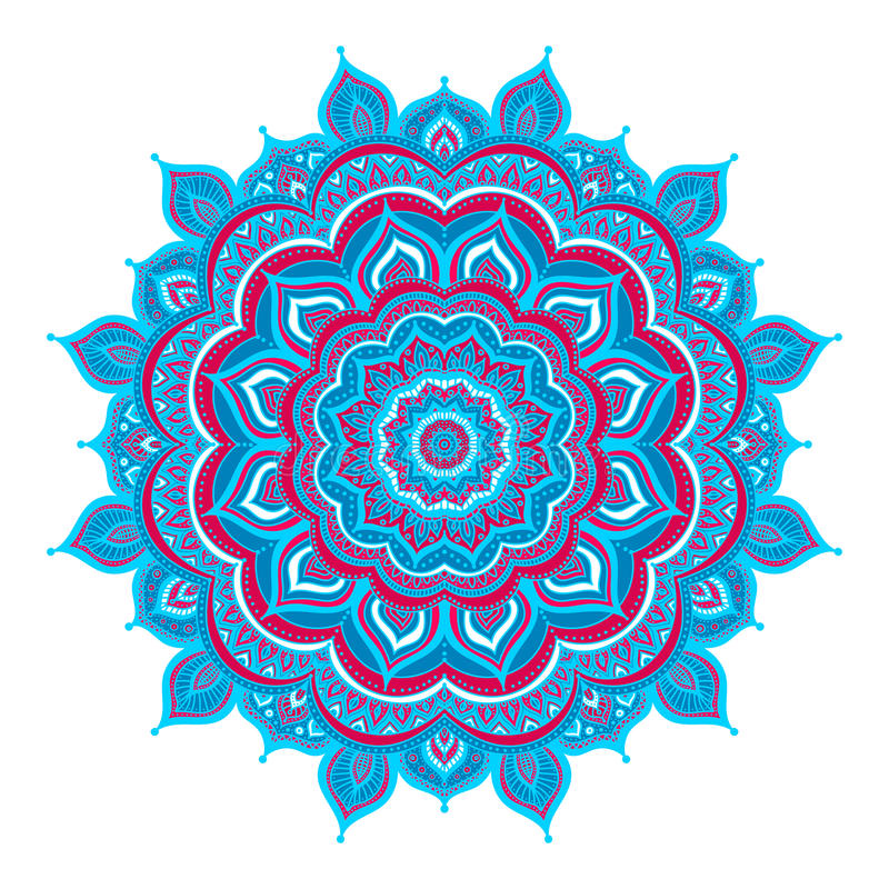 Mandala χρώματος doodle διανυσματική απεικόνιση