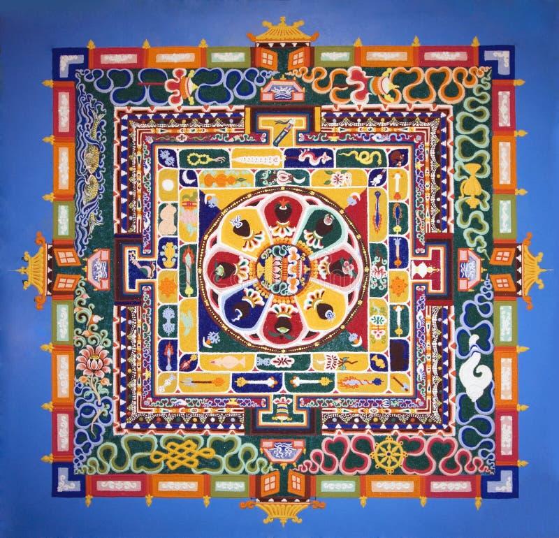 Mandala. A fragment of mandala created by Tibetan monks royalty free stock image