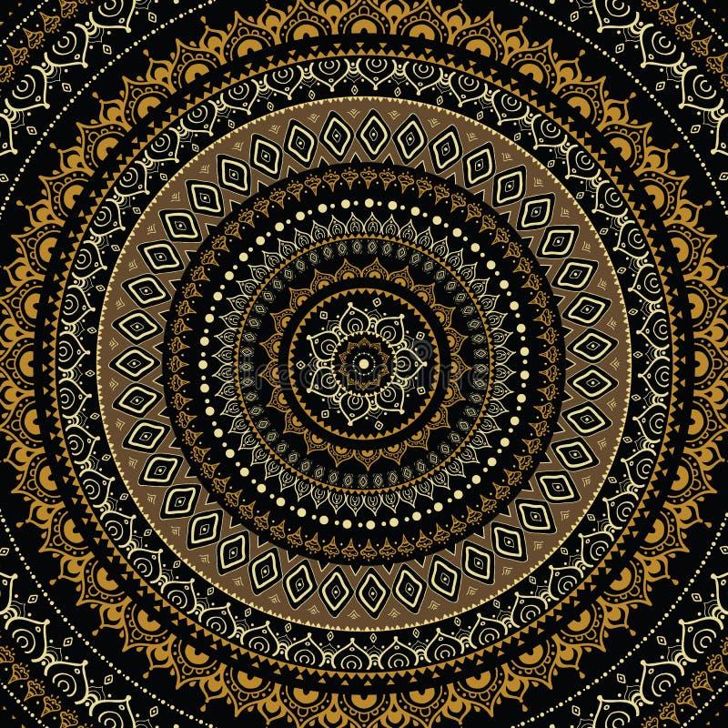 Mandala. ilustração stock