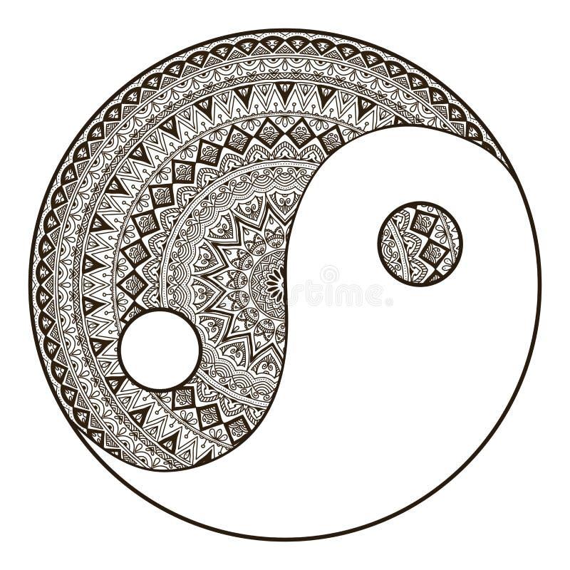 mandala ilustração do vetor