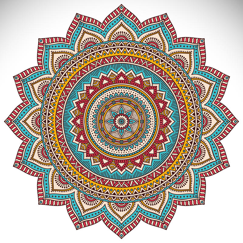 mandala illustration stock